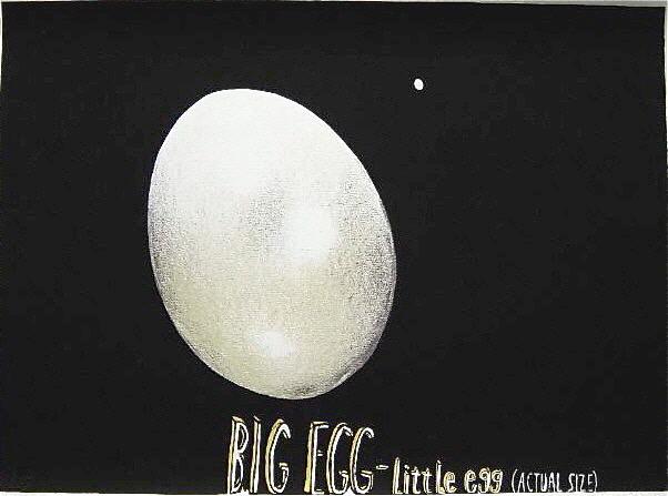 "Dick Frizzell 2003 ""Big Egg Little Egg""screenprint 670mm x 850mm"